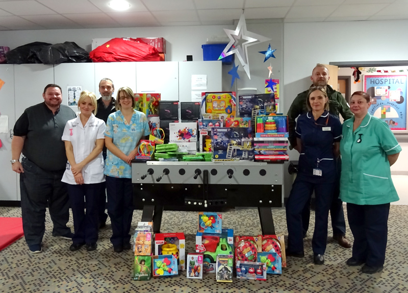 """""""Movember"""" project benefits the children's ward at Pinderfield's Hospital"""